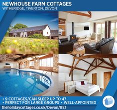 Newhouse Farm Cottages is a rural retreat of 9 cottages set in 30 acres of courtyard gardens, organic fields and woodland in the heart of Devon at Witheridge. Devon Cottages, Courtyard Gardens, Rural Retreats, Farm Cottage, Luxury Accommodation, Luxury Holidays, Acre, Fields, Woodland