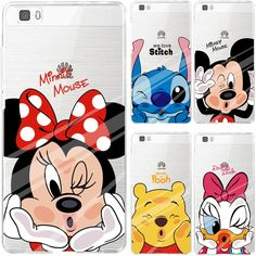 Soft Clear TPU Case For Huawei Ascend P9 P8 Lite Y3 II Y5 Y6 II Honor 6 7 8 5A 5C 5X Cover Cartoon Soft Silicone Phone Back Skin
