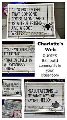 Give Your Child a Head Start, and.Pave the Way for a Bright, Successful Future. Charlottes Web Quotes, Charlottes Web Activities, Charlotte's Web Book, Web Activity, 3rd Grade Reading, Reading Fair, Third Grade, Web Themes, Schools First