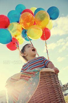 balloons hot air balloon first birthday photography lakeland