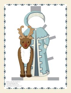 Paper Doll School: December Paper Doll -- Santa Claus Paper Doll, Outfit 10