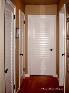 Louvered door styles by Newport Custom Shutters of Seattle.