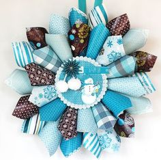 scrapbook paper wreath - the possibilities are endless!
