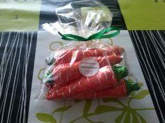 míni cenouras de chocolate