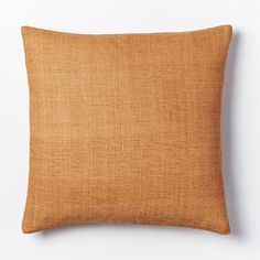 Silk Hand-Loomed Pillow Cover - Apricot | west elm