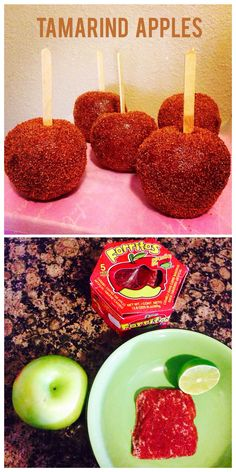 Tamarind Apples Mexican Candy Snacks Food Recipes Snack Chamoy Mexican Snacks, Mexican Candy, Mexican Food Recipes, Fruit Recipes, Apple Recipes, Dessert Recipes, Yummy Treats, Delicious Desserts, Yummy Food