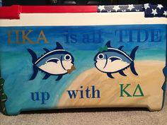 Southern Tide Pi Kappa Alpha and Kappa Delta fraternity cooler