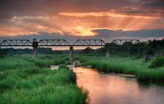 Selati Bridge sunrise image taken from inside Skukuza Camp Sunset Photography, Wildlife Photography, Kruger National Park, National Parks, Sunrise Images, Impressive Image, Best Sunset, Unique Hotels, Beautiful Park