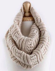 cozy knit infinity scarf oatmeal - shophearts - 1