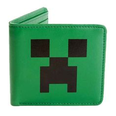 Minecraft Creeper Face Leather Wallet available at www.minecrafttoysuk.co.uk!