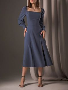 Classy Dress, Classy Outfits, Chic Outfits, Beautiful Outfits, Dress Outfits, Fashion Dresses, Elegant Midi Dresses, Stylish Dresses, Cute Dresses
