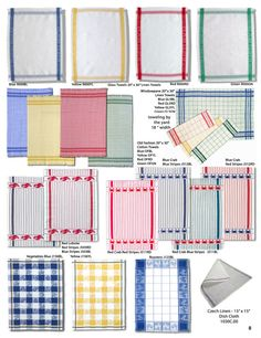 Ulster Linen - linen dish cloth, kitchen towels, glass towels, lobster and crab towels