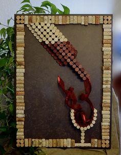 Wine Cork Wall Art ~ Large Decorative 3D & Beautiful