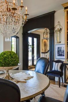 South Shore Decorating Blog: A Bit of Everything (Personal Update and Glam French-y Rooms) Black Interior Design, Home Interior, Interior And Exterior, Interior Decorating, Interior Trim, Exterior Design, Interior Livingroom, Home Design, Design Design