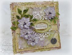 My Little Craft Things, Card with flowers