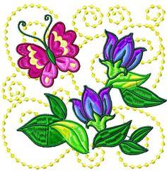 Butterfly Flower Blocks 10 Machine Embroidery Designs | eBay