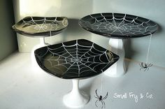 make spider web plates