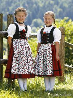 Cute little girls in dirndl
