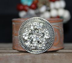 Leather Cuff Bracelets Giddy Up  Glamorous by JewelitCouture, $105.00