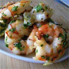 Simple Garlic Shrimp - Allrecipes.com My go to garlic shrimp recipe.