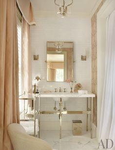 Traditional Bathroom by Suzanne Kasler Interiors and William T. Baker & Associates Ltd. in Atlanta, Georgia