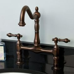 Landon Bridge Bathroom Faucet with Lever Handles - in oil rubbed bronze