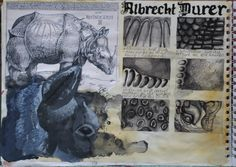 a-level sketchbook with the theme of 'layers'
