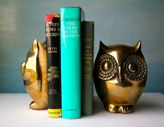 brass owl bookends somebody buy this for meeeeee