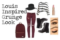 """""""Louis Tomlinson Inspired Grunge Look"""" by kendra22761 on Polyvore featuring Topshop, Charlotte Tilbury, Charlotte Russe and Herschel Supply Co."""