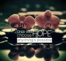 Create hope.