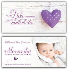 Geburtskarte, Spruch