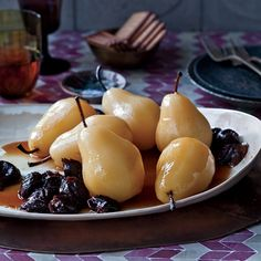 Paula Wolfert adapted this lightly spiced, unusual fruit dessert from one created by chef Fatima Mountassamin of Le Tobsil, Marrakech's most ambitious Moroccan restaurant.
