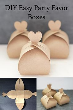 DIY Easy Party Favor Boxes DIY Wedding on a budget, free favors box with template<br> wedding favors under easy homemade fall wedding favors how to make a small gift box out of paper, nice cheap favors Diy Wedding On A Budget, Wedding Favors Cheap, Cheap Favors, Wedding Favor Boxes, Wedding Ideas, Diy Wedding Souvenirs, Diy Party Favor Boxes, Budget Wedding Favours, Fall Party Favors