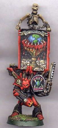More Old School Games Workshop Chaos Models Khorne Worldeater Renegade with Banner