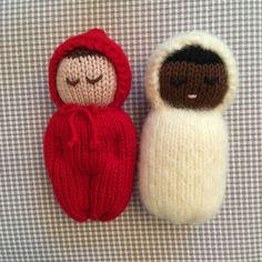 The Quiet Little Mouse Knitting pattern by Rachel Borello Carroll - yowyow Knitted Doll Patterns, Baby Hat Knitting Pattern, Crochet Doll Pattern, Knitted Dolls, Crochet Patterns Amigurumi, Loom Knitting, Crochet Dolls, Baby Knitting, Knitting Patterns