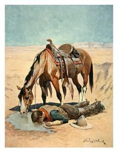 Giclee Print: The Water Hole Wall Art by Stanley L. Wood by Stanley L. Horse Art, Cowboy Art, West Art, Art Painting, Animal Art, Drawings, Painting, Cowboy Pictures, Art