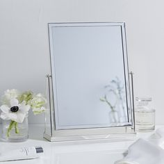 Silver Plated Dressing Table Mirror | Decorative Accessories | Home & Bath | The White Company US