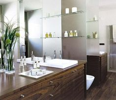 Un baño simétrico para compartir