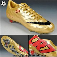 1747753c4893 Nike Mercurial CR7 SE-FG Gold Red Black Cleats