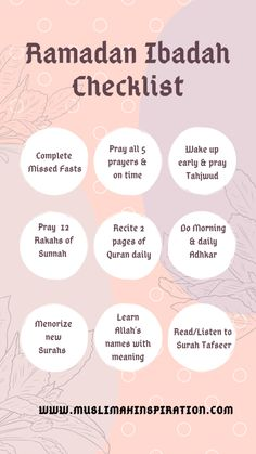 ramadan quotes (Article) How to prep up for Ramadan FREE Ramadan Preparation Ibadah Checklist Muslimah Inspirational Network