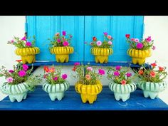 Recycle Plastic Bottles into Beautiful Flower Pots for Your Garden | TEO Garden - YouTube Plastic Bottle Planter, Plastic Bottle Flowers, Plastic Bottle Crafts, Diy Bottle, Recycle Plastic Bottles, Diy Crafts Hacks, Diy Arts And Crafts, Garrafa Diy, Recycled Bottles