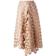 Marni 'Dot Macramé' A-line skirt ($2,055) ❤ liked on Polyvore featuring skirts, pink polka dot skirt, polka dot skirt, a-line skirt, high-waisted skirts and high waisted a line skirt