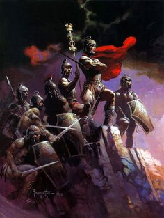 Seven Romans, by Frank Frazetta, 1979