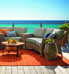 Paradise in the round - start your conversation circle with versatile, all-weather jax. | Fresh + Fab Outdoor Pad