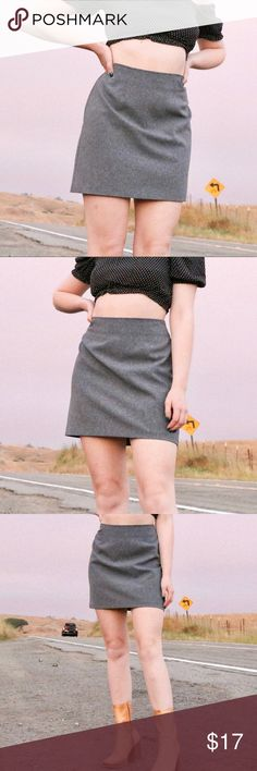 96dfa9414d I just added this listing on Poshmark: Vintage Grey Mini A-Line Skirt.