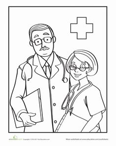 Doctor Coloring Pages Printables
