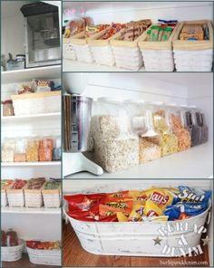 Great ideas on pantry organization.