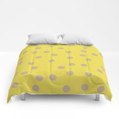 Polka Dots yellow and beige Comforters by painting Bedding, Sweet Sweet, Twin Xl, King Queen, Comforters, Polka Dots, Sleep, Cold