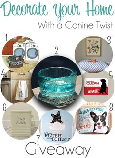 HIUGE 5-prize giveaway on The Lazy Pit Bull blog now through Tuesday, March 10! Five winners will receive an awesome pet-related item for the home! Enter now! | http://www.thelazypitbull.com/2015/03/home-decor-with-a-canine-twist/