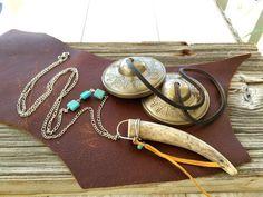 Bohemian Antler Necklace Boho Jewelry Hippie by TrueNatureJewelry